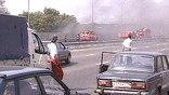 В образовавшейся из-за пожара пробке несколько водителей получили тепловой удар