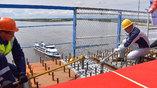 Специалисты ГК СК Мост Руслана Байсарова совместно с китайскими коллегами производят стыковку моста Благовещенск – Хэйхэ