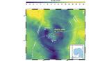 Гравитационная карта показывает асимметрии в кратере Чиксулуб, которые указывают на угол падения астероида.