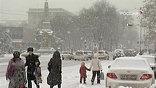 А на Краснодар обрушился сильный снегопад