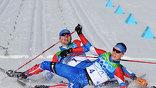 Никита Крюков - золото, Александр Панжинский - серебро в лыжном спринте на 1,5 км (фото EPA)