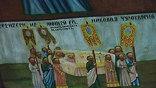 """В январе 2010 года усть-починское """"небо"""" стало центральным экспонатом выставки """"Небеса ручной работы"""" в Москве. Здесь были представлены расписные потолки и иконы Кенозерья. Экспозицию назвали сенсационной."""