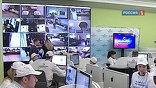 """В ситуационном центре """"Выборы-2012"""" члены Корпуса наблюдателей продемонстрировали премьеру, как они следили за работой избирательных участков по всей стране."""