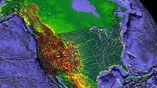 Карта показывает расположение сейсмометров по всей Северной Америке