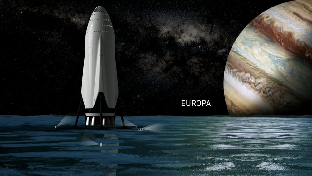 Компания  Маска  планирует  покорить  не  только  Марс, но  и  спутник  Юпитера  Европу.
