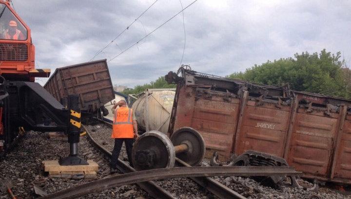 В Ульяновской области сошли с рельсов восемь вагонов