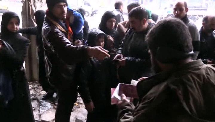 Боевики не выпускают мирных жителей из Восточной Гуты