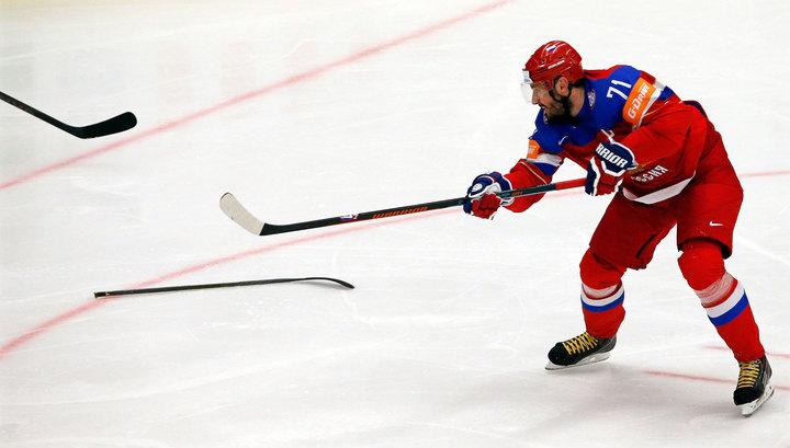 Российские хоккеисты нанесли поражение команде Латвии