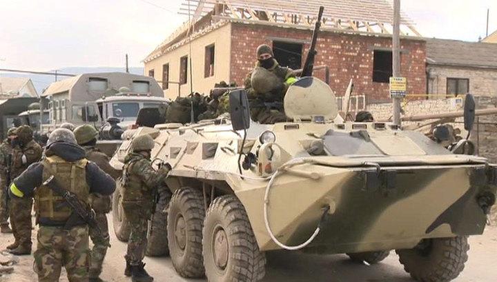 В Дербентском районе Дагестана блокирован дом с вооруженными боевиками