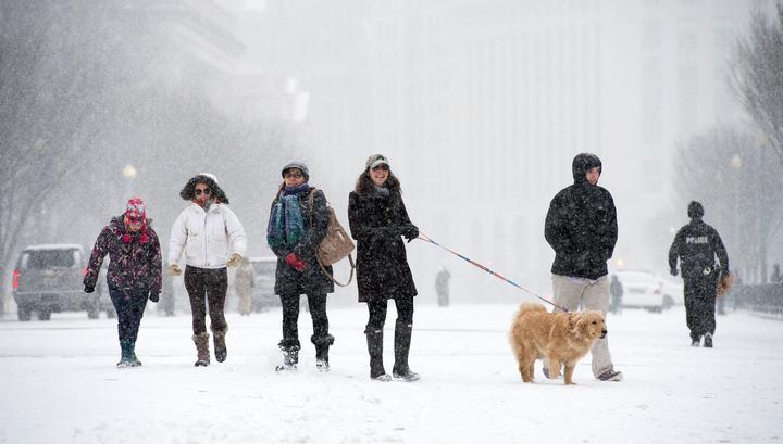 Не менее семи человек погибли в США из-за холодов и снегопадов