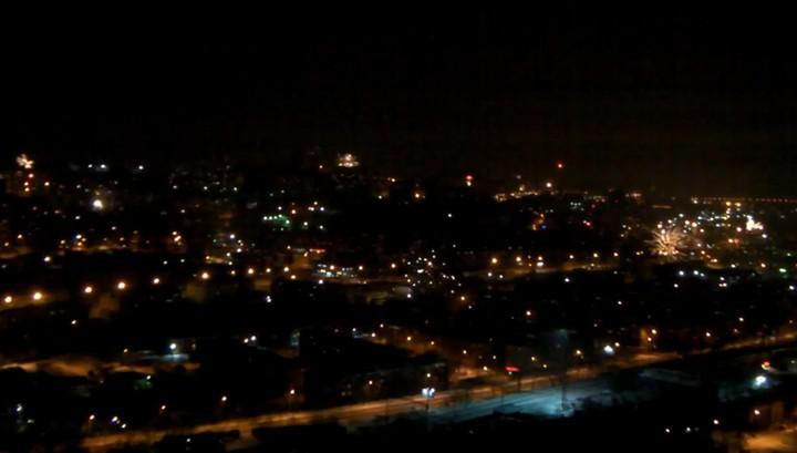 "Новогодний ""конец света"" во Владивостоке сняли на видео"