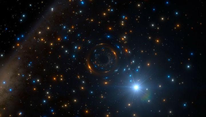 """Астрономы впервые обнаружили """"спокойную"""" чёрную дыру в шаровом скоплении"""