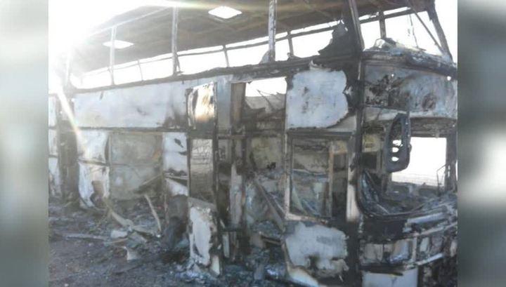 Автобус мог загореться после драки узбеков, выливших бензин на паяльную лампу