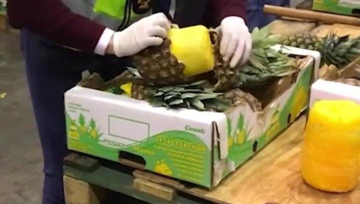 Крупную партию кокаиновых ананасов изъяли в Португалии и Испании