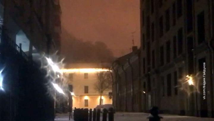 Пожар в Военно-морской Академии в Санкт-Петербурге ликвидирован