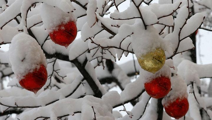 Снегопад в Москве. Фотолента