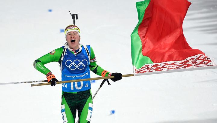 Биатлонистка Домрачева стала самой титулованной в истории Олимпиад