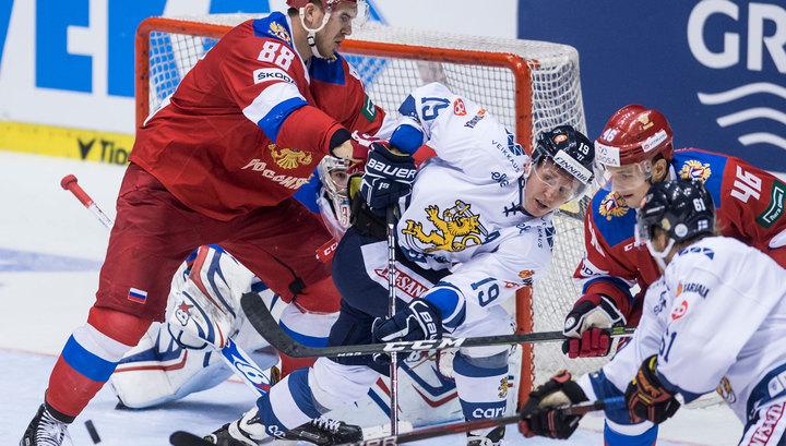 Российские хоккеисты проиграли финнам на Чешских играх
