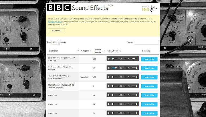 В онлайн-библиотеке BBC опубликованы более 16 тысяч звуков