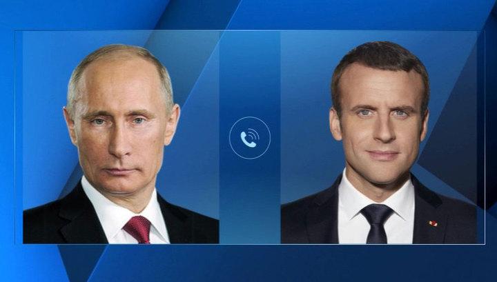Владимир Путин поздравил Эммануэля Макрона с победой сборной Франции