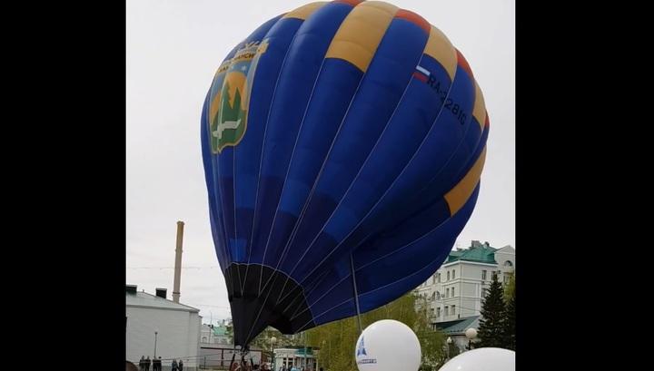 Полет воздушного шара в Ханты-Мансийске едва не завершился аварией