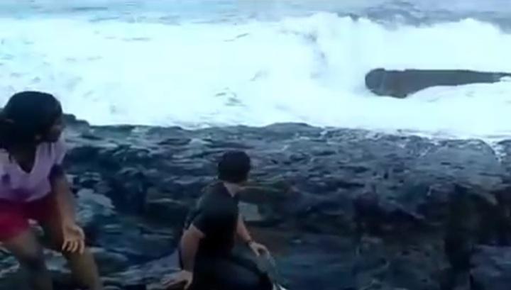Турист на Гоа расстался с жизнью, встречая рассвет на берегу океана. Видео