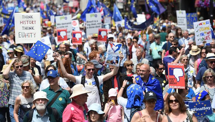 100 тысяч лондонцев промаршировали против Brexit