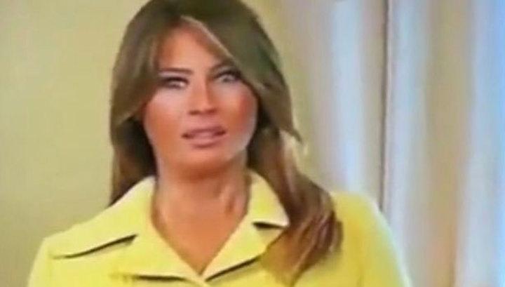 Сеть возбуждена кадрами, как Мелания изменилась в лице после рукопожатия с Путиным