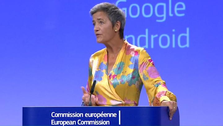 Вести.net: Еврокомиссия оштрафовала Google на 4,34 млрд евро