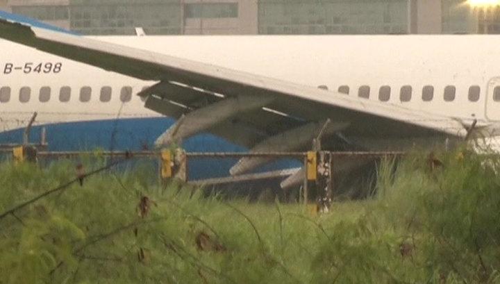 Жесткая посадка китайского Boeing на Филиппинах: никто из пассажиров не пострадал