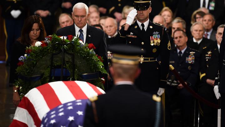 В Вашингтоне проходит церемония прощания с Джорджем Бушем-старшим