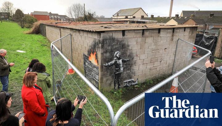 Граффити Бэнкси на гараже в Уэльсе продали за шестизначную сумму
