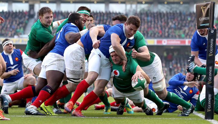 Регбисты Ирландии обыграли Францию в Кубке Шести наций
