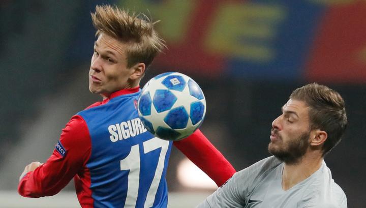 Полузащитник ЦСКА Сигурдссон признан лучшим игроком тура чемпионата России