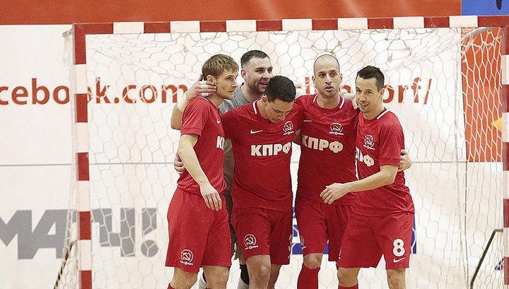 Клуб КПРФ стал первым финалистом чемпионата России по мини-футболу