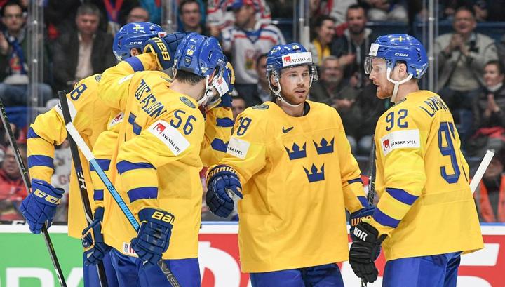 Чемпионат мира. Швеция перед игрой с Россией одержала победу над Латвией