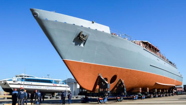 Крупнейший пластиковый боевой корабль спустят на воду в конце мая