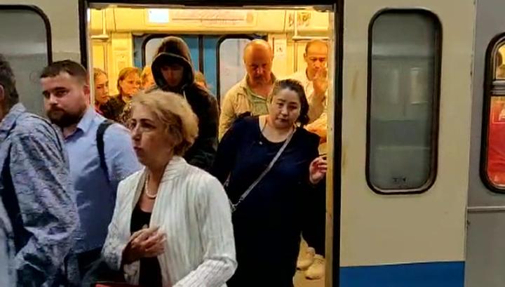 Движение поездов на серой линии метро Москвы нарушено в связи с падением человека на пути