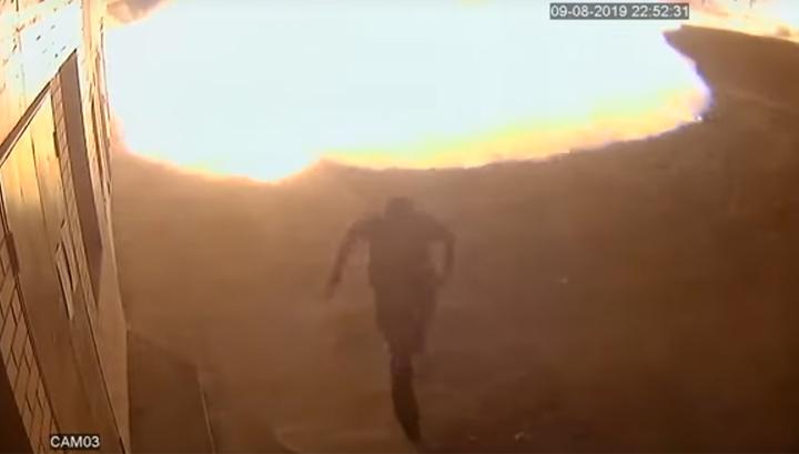 Взрыв на ингушской газовой заправке попал на видео