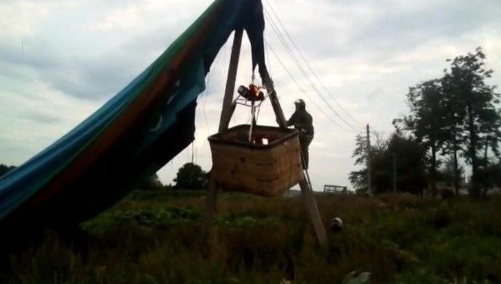 Пилот воздушного шара пострадал при падении в Подмосковье