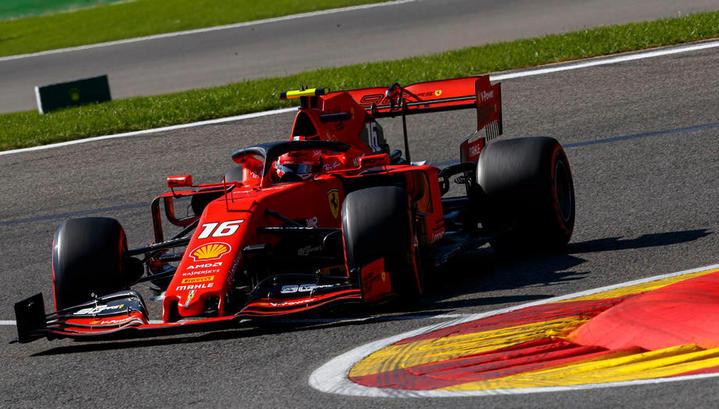 Формула-1. Леклер завоевал поул в квалификации Гран-при Бельгии, Квят – 18-й