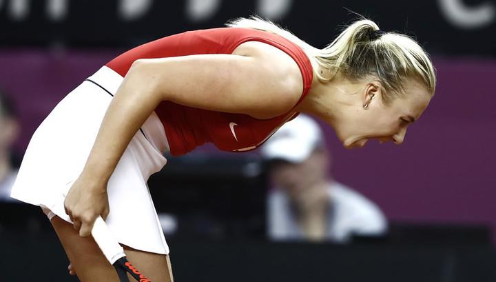 Анастасия Потапова проиграла Каролин Гарсии на старте турнира в Тяньцзине