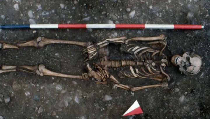Найден скелет человека, погибшего от ужасной казни
