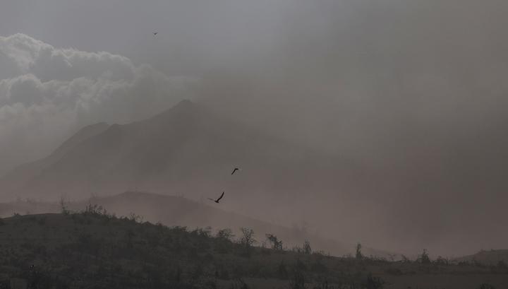Северо-Курильск засыпало вулканическим пеплом