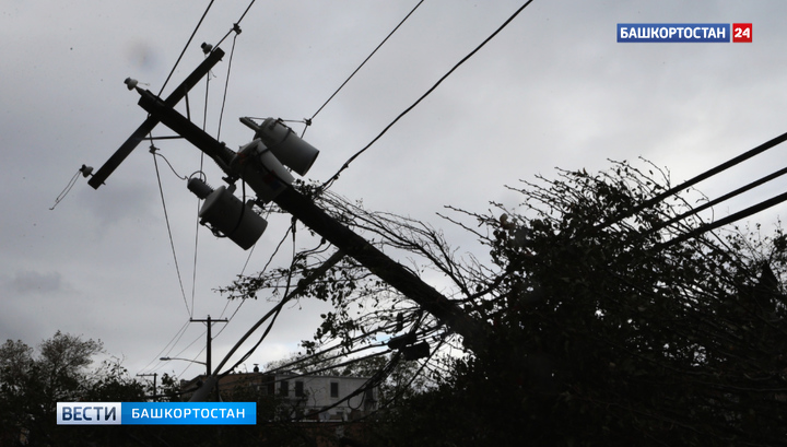 Ураган оставил без электричества 31 населенный пункт Башкортостана