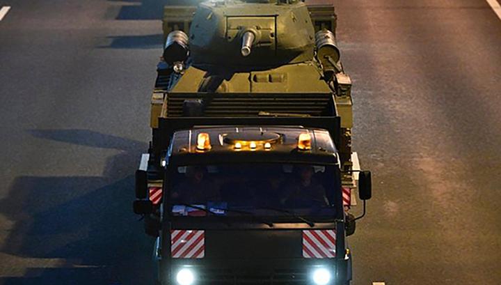 В Москву прибыла военная техника для участия в Параде Победы