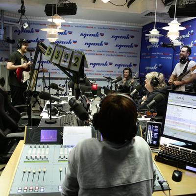 Группа Pompeya в студии