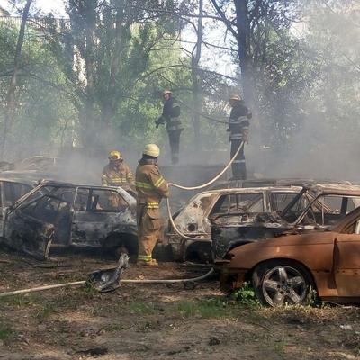Пожар на территории бывшей воинской части в селе Пугачево локализован