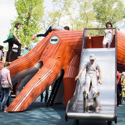 Новая детская площадка площадью почти два гектара откроется 25 августа в столичном парке Горького