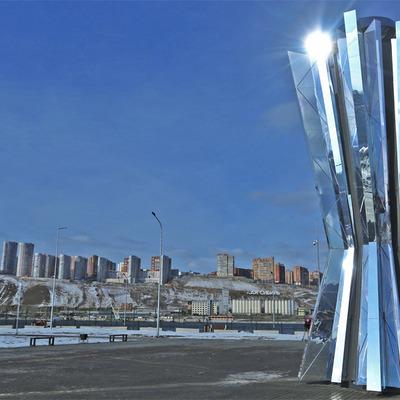 В Красноярске установили чашу огня зимней Универсиады